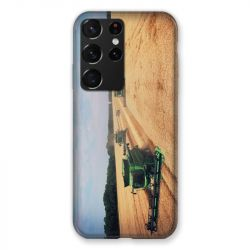 Coque Pour Samsung Galaxy S21 Ultra Agriculture Moissonneuse