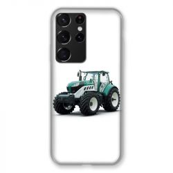 Coque Pour Samsung Galaxy S21 Ultra Agriculture Tracteur Blanc