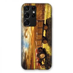 Coque Pour Samsung Galaxy S21 Ultra Agriculture Tracteur Color