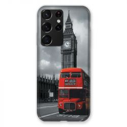Coque Pour Samsung Galaxy S21 Ultra Angleterre London Bus