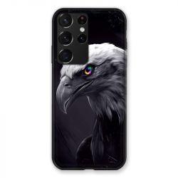 Coque Pour Samsung Galaxy S21 Ultra Aigle Royal Noir