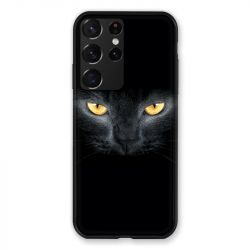 Coque Pour Samsung Galaxy S21 Ultra Chat Noir
