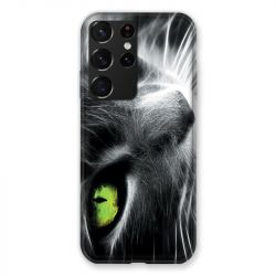 Coque Pour Samsung Galaxy S21 Ultra Chat Vert