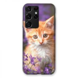 Coque Pour Samsung Galaxy S21 Ultra Chat Violet
