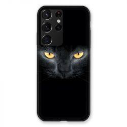 Coque Pour Samsung Galaxy S21 Ultra Cheval Noir