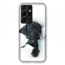 Coque Pour Samsung Galaxy S21 Ultra Chien Noir