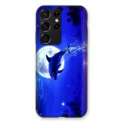 Coque Pour Samsung Galaxy S21 Ultra Dauphin Lune