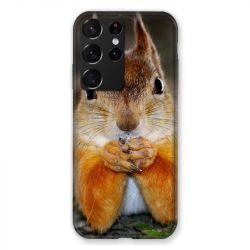 Coque Pour Samsung Galaxy S21 Ultra Ecureuil Face