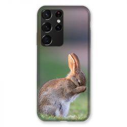 Coque Pour Samsung Galaxy S21 Ultra Lapin Marron