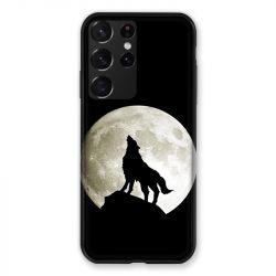 Coque Pour Samsung Galaxy S21 Ultra Loup Noir