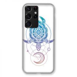Coque Pour Samsung Galaxy S21 Ultra Animaux Maori Tortue Color