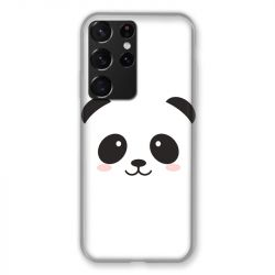 Coque Pour Samsung Galaxy S21 Ultra Panda Blanc