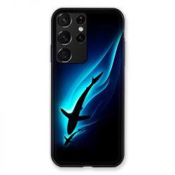 Coque Pour Samsung Galaxy S21 Ultra Requin Noir