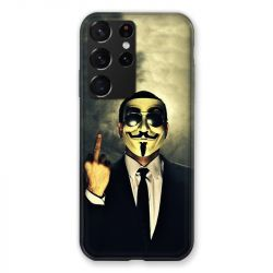Coque Pour Samsung Galaxy S21 Ultra Anonymous Doigt