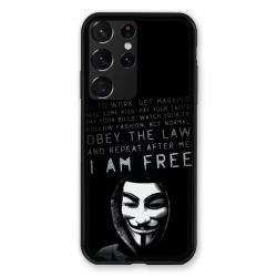 Coque Pour Samsung Galaxy S21 Ultra Anonymous I am free