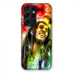 Coque Pour Samsung Galaxy S21 Ultra Bob Marley Color