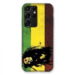 Coque Pour Samsung Galaxy S21 Ultra Bob Marley Drapeau