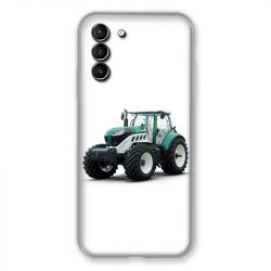 Coque Pour Samsung Galaxy S21 Plus Agriculture Tracteur Blanc