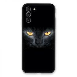 Coque Pour Samsung Galaxy S21 Plus Chat Noir