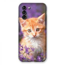 Coque Pour Samsung Galaxy S21 Plus Chat Violet
