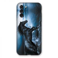 Coque Pour Samsung Galaxy S21 Plus Cheval Noir
