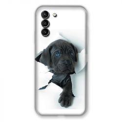 Coque Pour Samsung Galaxy S21 Plus Chien Noir