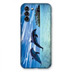 Coque Pour Samsung Galaxy S21 Plus Dauphin Ile