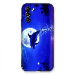 Coque Pour Samsung Galaxy S21 Plus Dauphin Lune