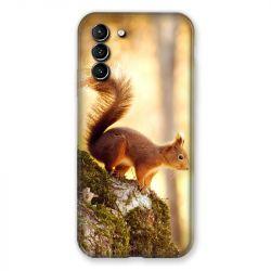 Coque Pour Samsung Galaxy S21 Plus Ecureuil Bois