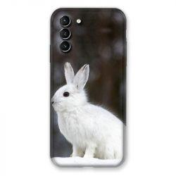 Coque Pour Samsung Galaxy S21 Plus Lapin Blanc