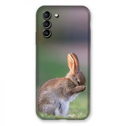 Coque Pour Samsung Galaxy S21 Plus Lapin Marron