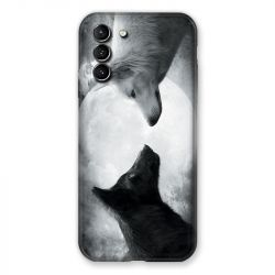 Coque Pour Samsung Galaxy S21 Plus Loup Duo