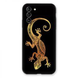 Coque Pour Samsung Galaxy S21 Plus Animaux Maori Lezard Noir