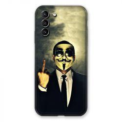 Coque Pour Samsung Galaxy S21 Plus Anonymous Doigt