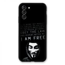 Coque Pour Samsung Galaxy S21 Plus Anonymous I am free
