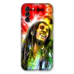 Coque Pour Samsung Galaxy S21 Plus Bob Marley Color
