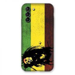 Coque Pour Samsung Galaxy S21 Plus Bob Marley Drapeau