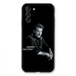 Coque Pour Samsung Galaxy S21 Plus Johnny Hallyday Noir