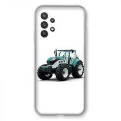 Coque Pour Samsung Galaxy A32 Agriculture Tracteur Blanc
