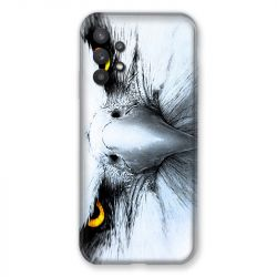 Coque Pour Samsung Galaxy A32 Aigle Royal Blanc
