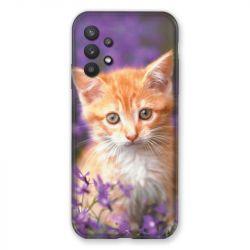 Coque Pour Samsung Galaxy A32 Chat Violet