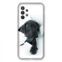 Coque Pour Samsung Galaxy A32 Chien Noir