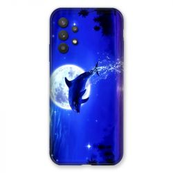 Coque Pour Samsung Galaxy A32 Dauphin Lune