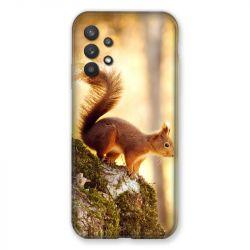 Coque Pour Samsung Galaxy A32 Ecureuil Bois