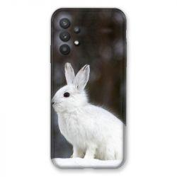 Coque Pour Samsung Galaxy A32 Lapin Blanc