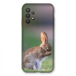 Coque Pour Samsung Galaxy A32 Lapin Marron