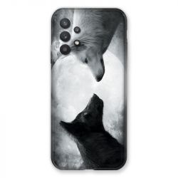 Coque Pour Samsung Galaxy A32 Loup Duo
