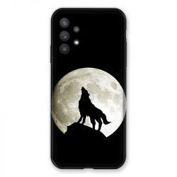 Coque Pour Samsung Galaxy A32 Loup Noir