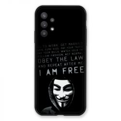 Coque Pour Samsung Galaxy A32 Anonymous I am free
