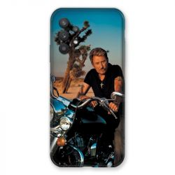 Coque Pour Samsung Galaxy A32 Johnny Hallyday Moto